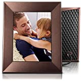 Nixplay W08E- Burnished Bronze Iris 8 Wi-Fi Cloud Digital Photo Frame with IPS Display, iPhone & Android App, iOS Video Playback, Free 10GB Online Storage, Alexa Integration, Burnished Bronze