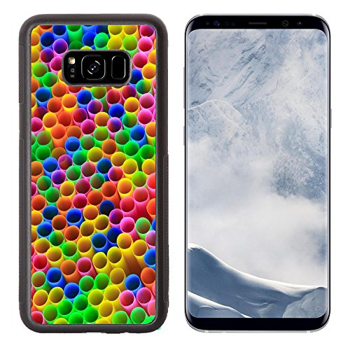 g Galaxy S8 Plus Aluminum Backplate Bumper Snap Case IMAGE ID: 20363032 Abstract background from many multi color tubules for a cocktail (621 Red Circles)