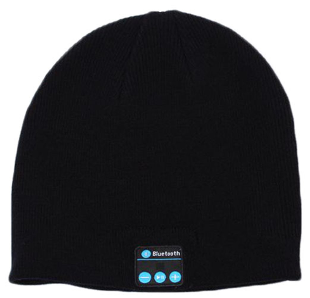 iSuperb Cool Bluetooth Wireless Music Beanie Hat with Microphone & Stereo Headphone Hands Free, (Bluetooth Hat Black)