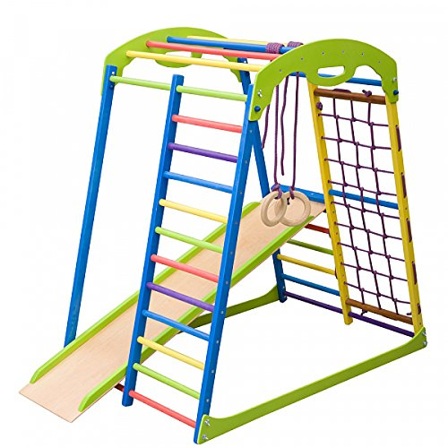 Dani LLC Colored Indoor Wooden Playground for Kids