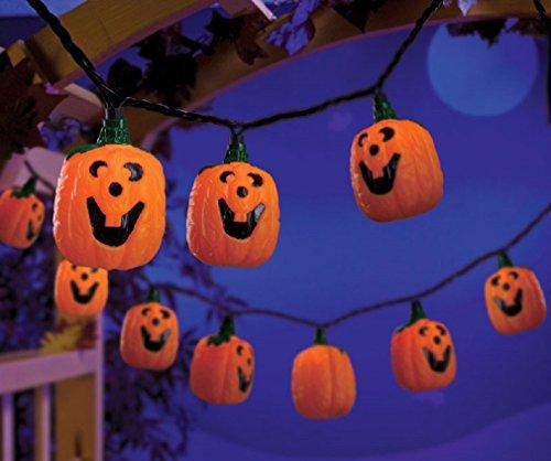 Celebrations H26fa11s Jack-o-lantern Lighted Halloween Garland
