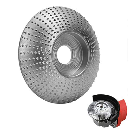 Napoo Woodworking Grinder Shaping Disc 5/8 Tungsten Carbide Abrasive Angle Grinder Wheel Wood Carving Grinding Disk (2 Sets)