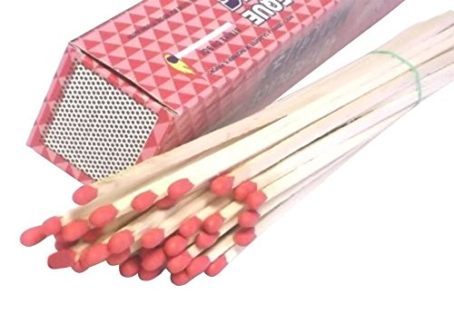1000 Pack Wholesale Lot 11'' Long Wooden Fireplace Matches (25 Boxes of 40 Matches) by MegaDeal (Image #2)