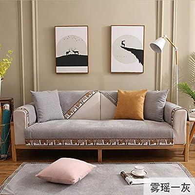 Amazon.com: XUE STORE Chenille Solid Color Sofa Slipcover ...