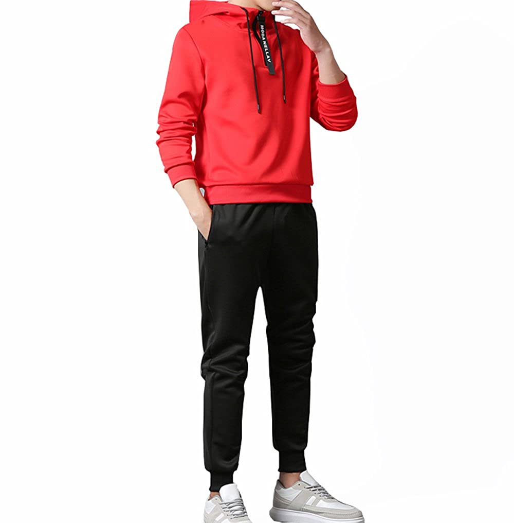Manluo Mens Hoodies 2 Pieces Sports Suits Casual Tracksuit Sweatshirt Long Sleeve at Amazon Mens Clothing store: