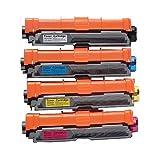 TONER4U ® 4PK New Compatible Brother TN221/TN225 (High Yield) Color Toner Cartridge Combo Set (BK/C/M/Y) for Brother HL-3140CW, HL-3170CDW, MFC-9130CW, MFC-9330 CDW, MFC-9340 CDW