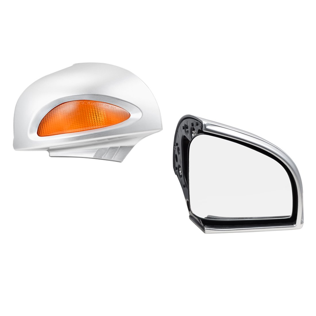 Clipsone Side Rear View Rearview Mirror Silver with Turn Signal Lens for BMW R1100RT R1150RT 1100 1150