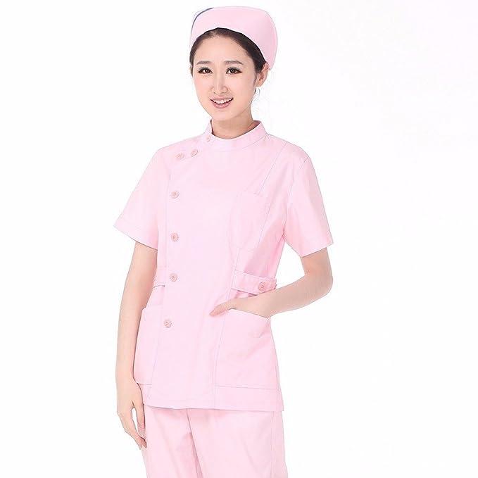 Xuanku La Enfermera Enfermera Traje Traje De Manga Corta De Uci Dentistry Pediatric Nurse Doctor Apertura Lateral De Cuello, L, Rosa: Amazon.es: Ropa y ...