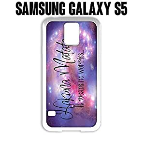 Phone Case Space Quote for Samsung Galaxy S5 Rubber White (Ships from CA)