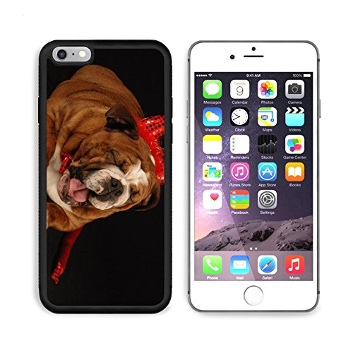 MSD Premium Apple iPhone 6/6S Plus Aluminum Backplate Bumper Snap Case iPhone6 Plus IMAGE ID: 4134375 english bulldog dressed up as a devil on a black (Naughty Devil Costume)