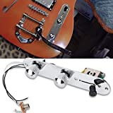 Telecaster Control Plate Loaded Chrome Plated Metal 3-Way Switch Prewired Tele Control Plate Tele Guitar Control Plate for Tele Guitar Replacement Parts