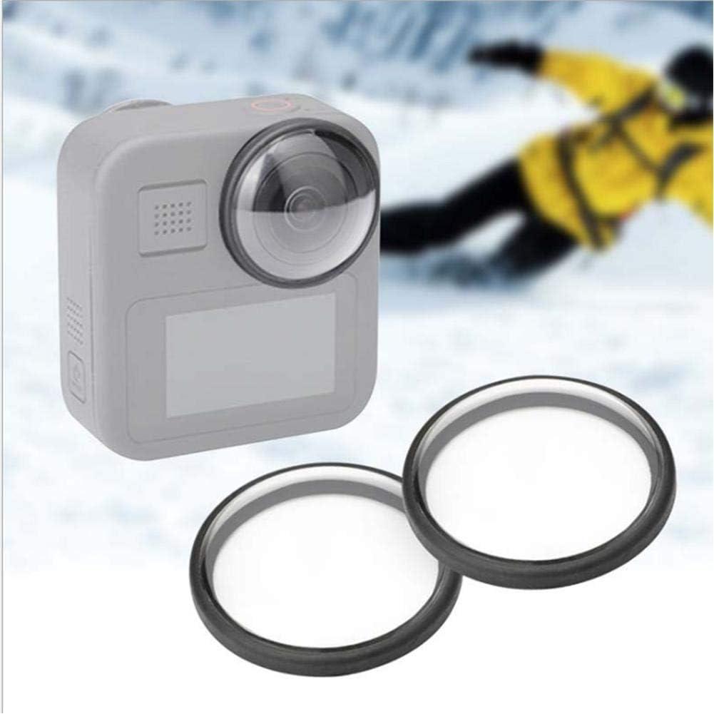 2 ST/ÜCKE Wasserdicht Staubdicht Acryl Action Kamera Objektivschutzh/ülle f/ür GoPro Max Sportkamera Mugast Objektivschutzh/ülle