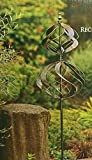 "Vertical Double Tiered Wind Catcher Spinner Tulip Style - 84"" H x 18"" W"