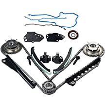 Engine Timing Chain Kit with Camshaft Drive Phaser Repair Kit for Ford Expedition F150 F250 F350 & Lincoln Mark LT Navigator with 5.4L 3V Triton Engine
