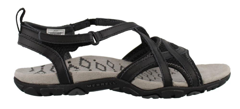 Merrell Women's, Sandspur Delta Wrap Sandals Black 10 M