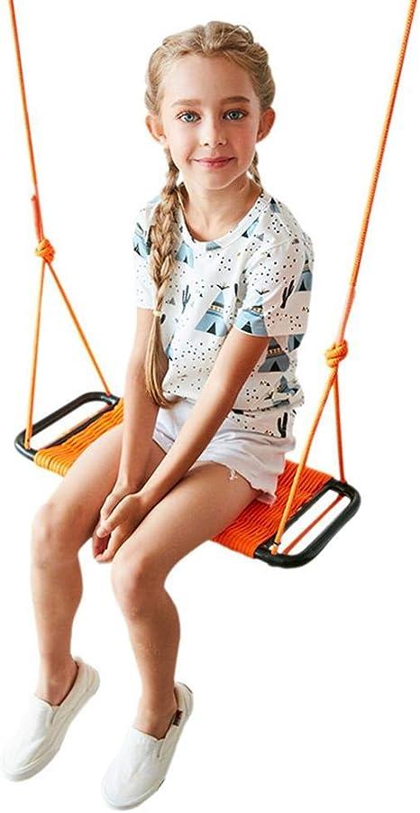 Asiento Columpio Infantil, Cuerda Fuerte Columpios para niños Silla Colgante para Columpios Jardín Exterior sólido Interior con Correas y Ganchos para niños de 2-15 años: Amazon.es: Deportes y aire libre