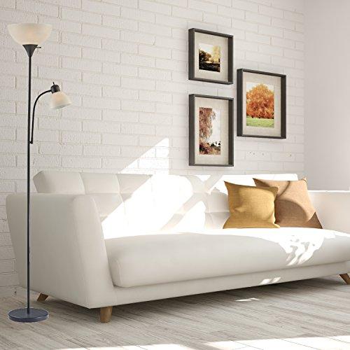 Light Accents 150 Watt Floor Lamp With Side Reading Light   Floor Lamps   Dorm  Room Part 68