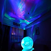 StillCool Ocean Wave Projector Color Changing Led Night Light Lamp/Realistic Aurora Borealis Projector (blue)