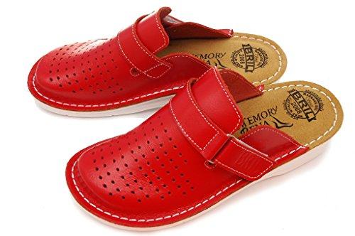 Chaussures Chaussons Dr Dames Mules BRIL en D52 Rosso Punto Cuir Femme Rouge Sabots xZYwWC0qFY