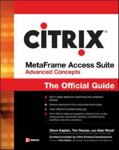 Citrix MetaFrame Access Suite Advanced Concepts : The Official Guide-cover