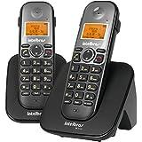 Telefone sem Fio Digital e Ramal Adicional, Intelbras, TS 5122, Preto, Pacote de 2