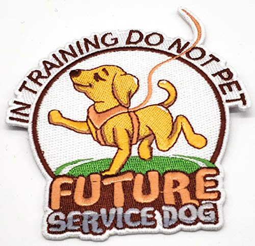 Contractor Harness Premium - Furbaby Products Service Dog in Training Patch|Future Service Dog|Custom Made Embroidered Large 4 Inch Patch|Do Not Pet|Please Ignore (Single, White)
