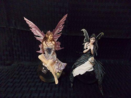 MUNRO Set of 2- Purple Lace Bubble Fairy & Gathering Storm Fairy by Nene Thomas, 2006. ()