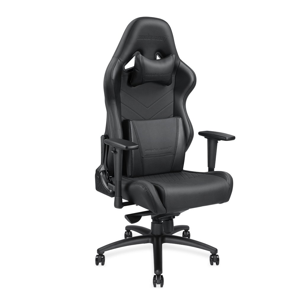 [Large Size Big and Tall 400lb Gaming Racing Chair] Andaseat Swivel Rocker Tilt E-Sports Chair, High Back Ergonomic Computer Chair, with Adjustable Padded Headrest and Lumbar Support (Black)