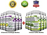 Pure Green Coffee Bean Extract + Pure Garcinia Cambogia Extract - Weight Loss Bundle - 720 Veggie Capsules - Gluten Free - Non GMO
