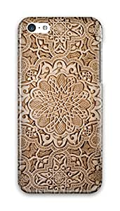 CaseandHome Golden Mosaic Floral Pattern Design PC Material Hard Case for iphone 5C