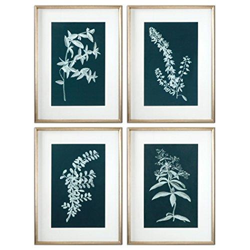Uttermost Pale Stems Of Spring Floral Art (Set of 4) (Uttermost Spring)