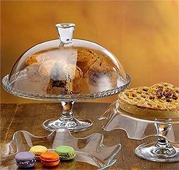 Glasglocke Tortenglocke Patisserie Tortenplatte Auf Fuß Mit Haube 32