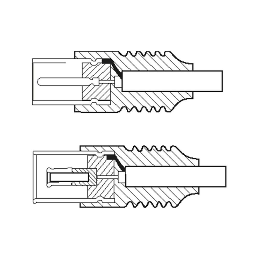 Schermatura Doppia Goobay 11564 Cavetto Coassiale Antenna Coax 9.5 mm 70 dB 10 m Lunghezza del Cavo Nero