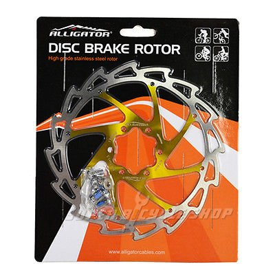 ALLIGATOR Coated Disc Brake Rotor,WIND CUTTER,160mm,88g