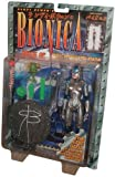 Randy Bowen's BIONICA Bride of Metropolis Fully Articulated 8 Inch Tall Action Figure with Domes that Glow in the Dark, Eyes that Light Up, Backbone Staff, Green Monster Minifigure, and Display Stand Plus Signature of Randy Bowen on the Package