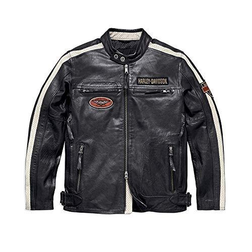 Harley-Davidson Official Men's Command Leather Jacket, Black (Large)