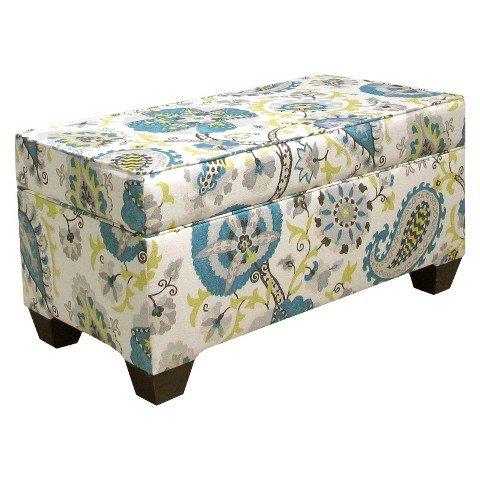 Skyline Furniture Ladbroke Storage Bench - Multicolored by Skyline