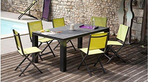 Elena-Mesa de jardín 1 mesa, 6 sillas: Amazon.es: Jardín