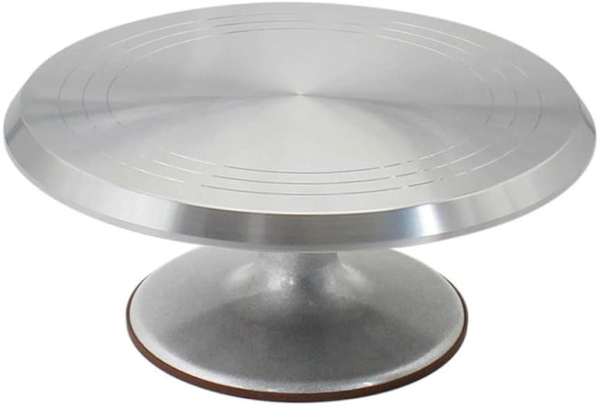 Cake Stand, Rotating Cake Decorating Stand Revolving Pottery Stand  Turntable with Ball Bearings Diameter Heavy Duty 10 INCH