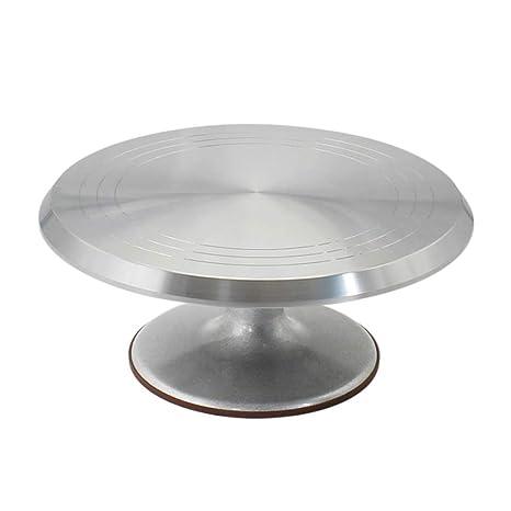 Tocadiscos giratorio para tartas, mesa giratoria de cerámica ...