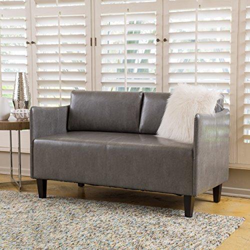 Nile Grey Bonded Leather LoveseatLoveseat for Bedroom  Amazon com. Loveseat For Bedroom. Home Design Ideas