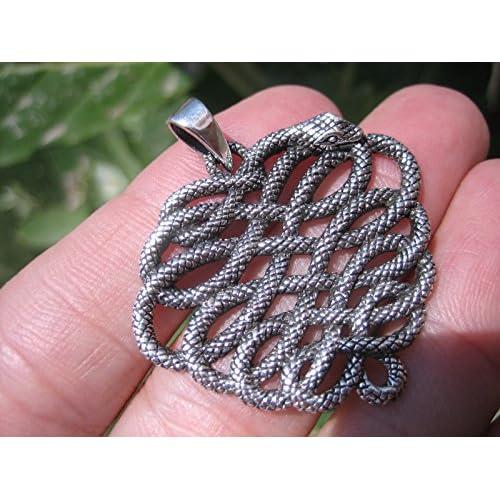 72eb7239de2e Lovely 925 plata serpiente colgante collar Tailandia joyas Art A15 ...