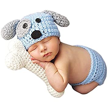 Jastore ® Foto Fotografie Prop Niedlich Baby Kostüm blau Hund ...
