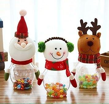 urgrace 3 piezas/set navidad Candy tarro de alce de Navidad y Papá Noel &