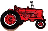 Nipitshop Patches Red Car No roof Tractor Farm