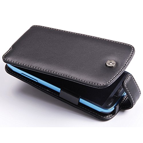 PDair Black Leather Flip-Style Case for Samsung Galaxy S4 Active