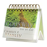 DaySpring Charles Stanley's God's Way, DayBrightener Perpetual Flip Calendar, 366 Days of Inspiration (16760)