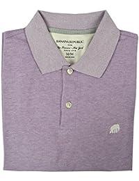 Men's Birdseye Pique Polo, Light Purple