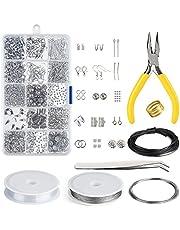 KUUQA Jewelry Making Kit Jewelry Findings Starter Kit Jewelry Beading Making and Repair Tools Kit