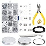 KUUQA Jewelry Making Kit Jewelry Findings Starter Kit Jewelry Beading Making and Repair